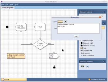 Violet uml editor easy to use completely free violet is intended for students teachers and authors who need to produce simple uml diagrams quickly it is not intended as an industrial strength tool ccuart Images